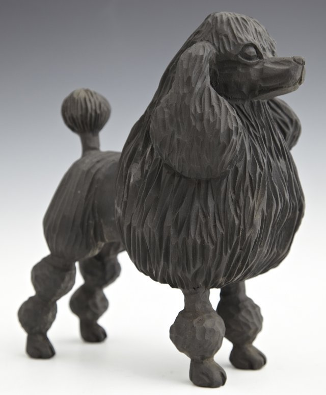 "Jose Pinal (1913-1983), ""Poodle Figure,"" 20th c., eboni"