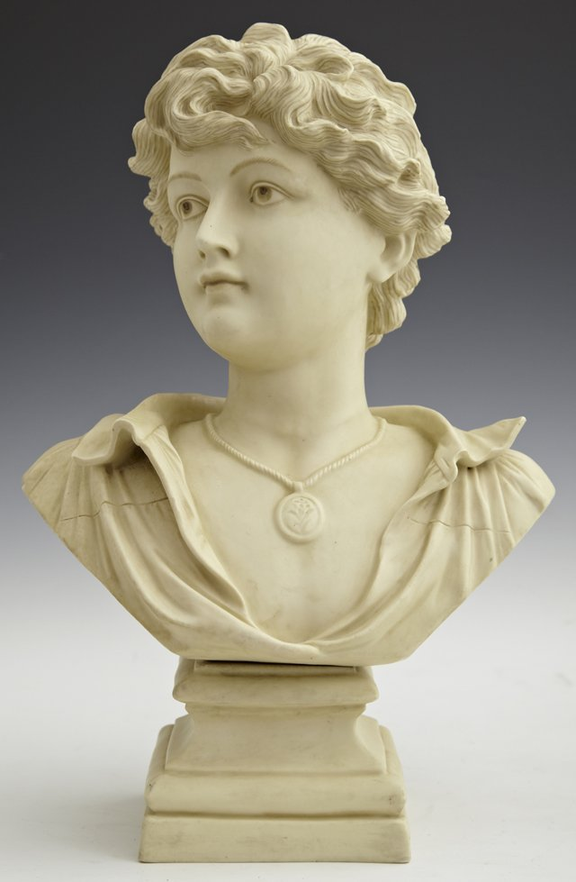 Fine Rudolstadt Ivory Porcelain Bust of a Youth, late 1