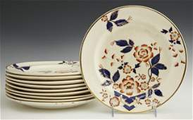 Set of 10 Early English Plates 19th c in the Imari