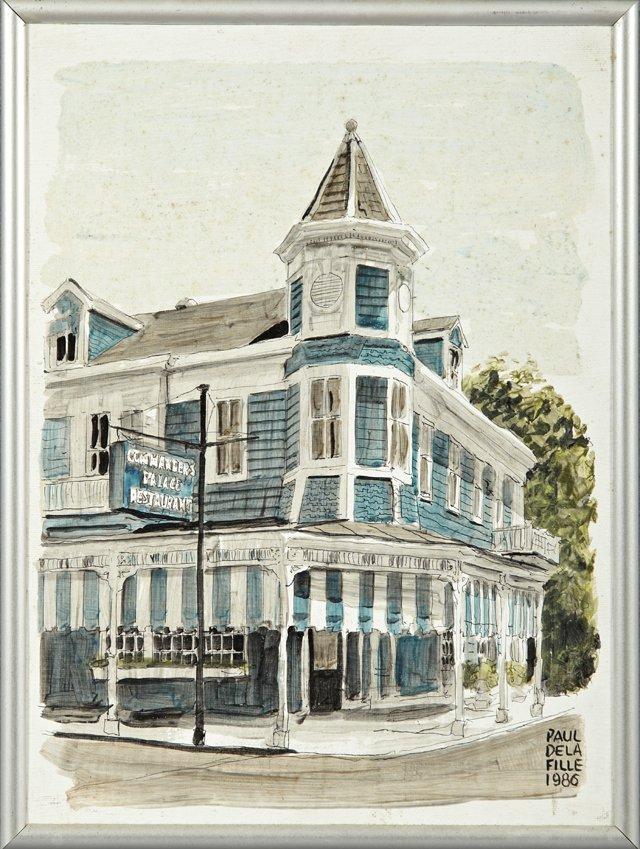 """Paul De la Fille (New Orleans), """"Commander's Palace,"""" 1"""