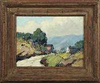 """John W. Allen, """"House in the Vermont Hills,"""" 20th c., o"""