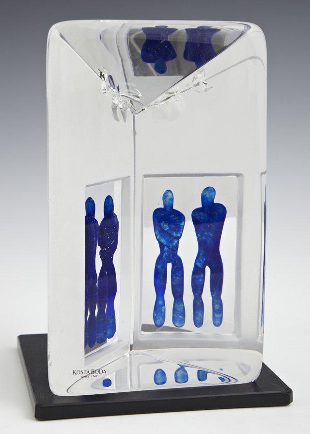 "Bertil Vallien, ""Reflections,"" Kosta Boda Crystal"