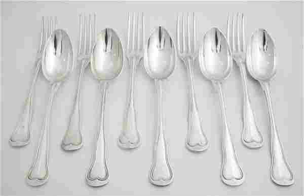 Twenty-Seven Piece Christofle Silverplate Flatware Set,