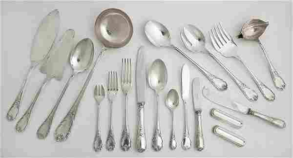 One Hundred Twelve Piece Set of Christofle Silverplated