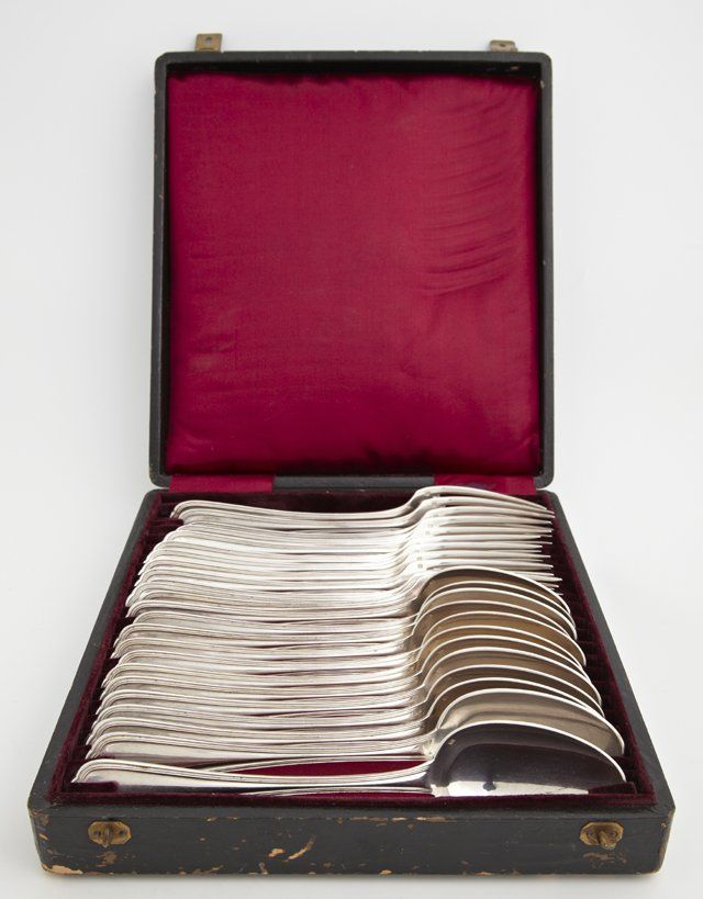 Twenty Four Piece Set of Christofle Silverplated