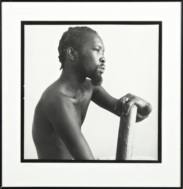 "George Valentine Dureau (1930-), ""Earl ,"" 1977, black"