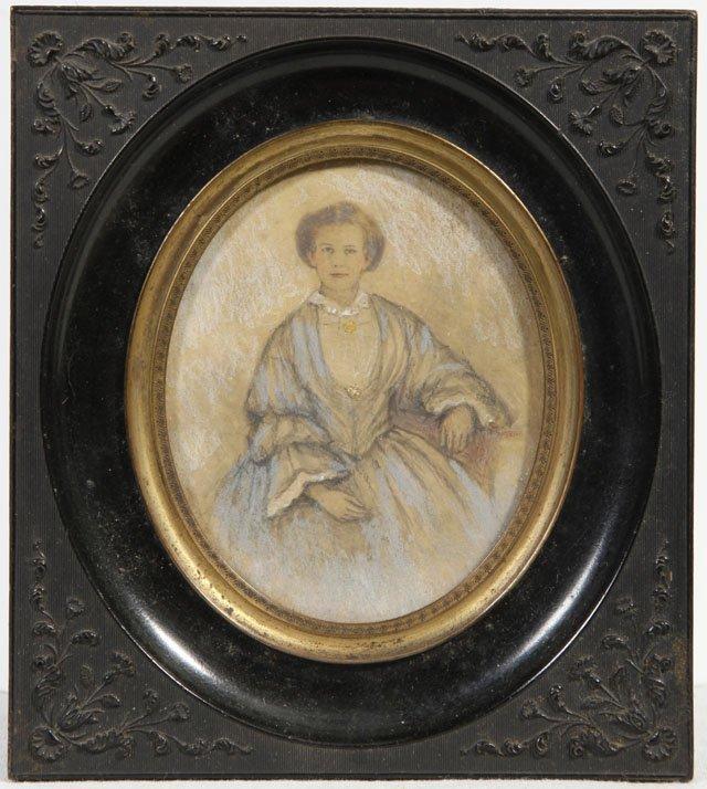"New Orleans School, ""Portrait of a Woman,"" 19th c.,"