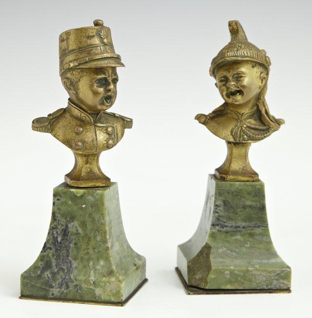 Unusual Pair of Cabinet Bronzes, 19th c., of children
