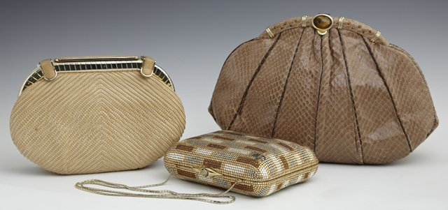 Group of Three Judith Leiber Clutches, consisting of a
