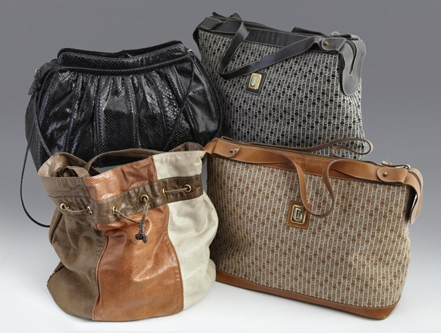 Group of Four Vintage Judith Leiber Purses, including a