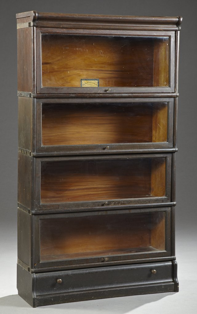 Globe Wernicke Four Stack Oak Barrister Bookcase C Sep 07 2013 Crescent City Auction