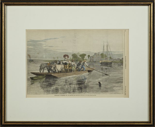 """Ferry Boat to Brashear City, on Berwick Bay,"