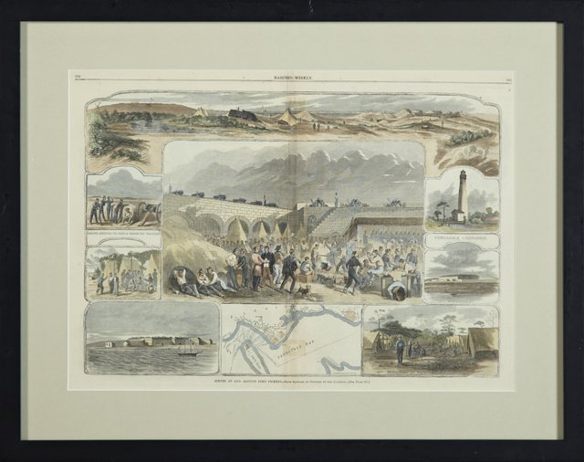 """Scenes at and Around Fort Pickens,"" 19th c., hand"