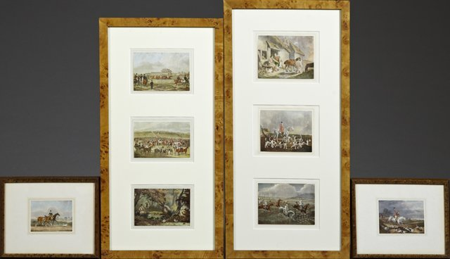 "Group of Four English Hunting Prints, 19th c., ""Hunters"