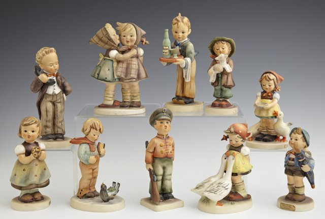 Group of Ten Hummel Figurines, 20th c., consisting of