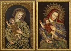 """South American School, """"The Virgin and Child,"""" 20th c.,"""