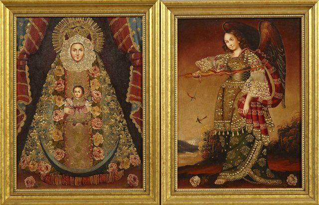 """South American School, """"The Virgin and Child,"""" and"""