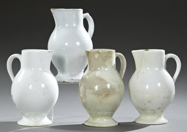 Group of Four French Provincial Glazed Earthenware