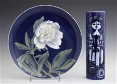 Two Porcelain PiecesA Rosenthal StudioLinie Cylinder