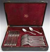 Twenty-Four Piece Set of Silverplated Flatware, 19th