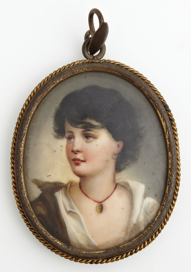 "Continental School, ""A Dark Haired Beauty,"" 19th c.,"