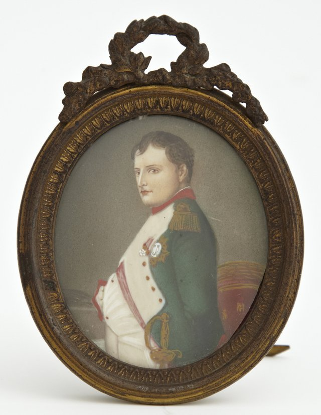 "French School, ""Napoleon Bonaparte,"" 19th c., oil on"