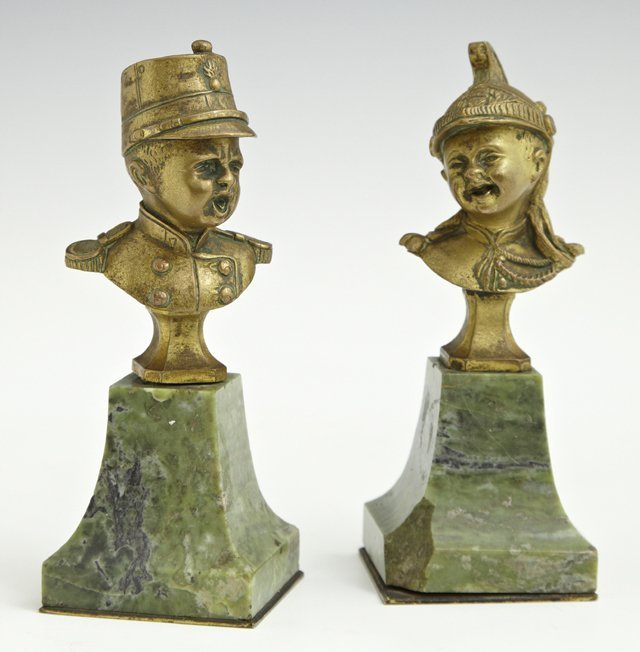 Unusual Pair of Cabinet Bronzes, 19th c., of children