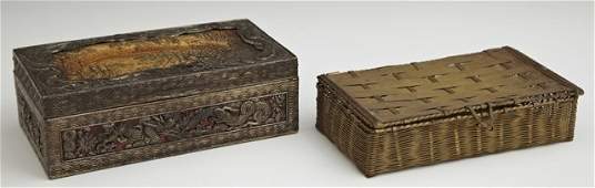 Group of Two Dresser Boxes 20th c consisting of a