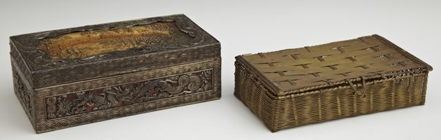 Group of Two Dresser Boxes, 20th c., consisting of a
