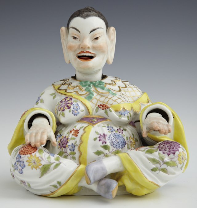 Meissen Porcelain Mandarin Nodder, 19th c., with moving