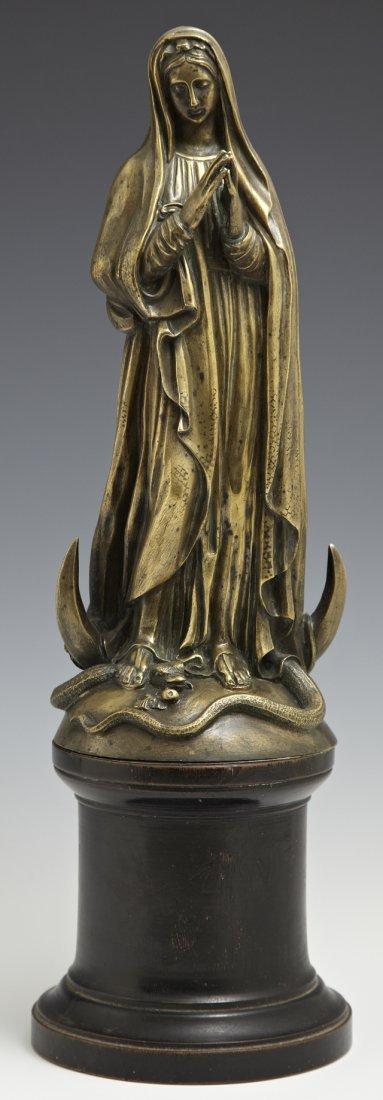 """The Virgin Mary,"" late 19th c., bronze on an ebonized"