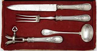 Four Piece Silverplate Serving Set, 19th c., by