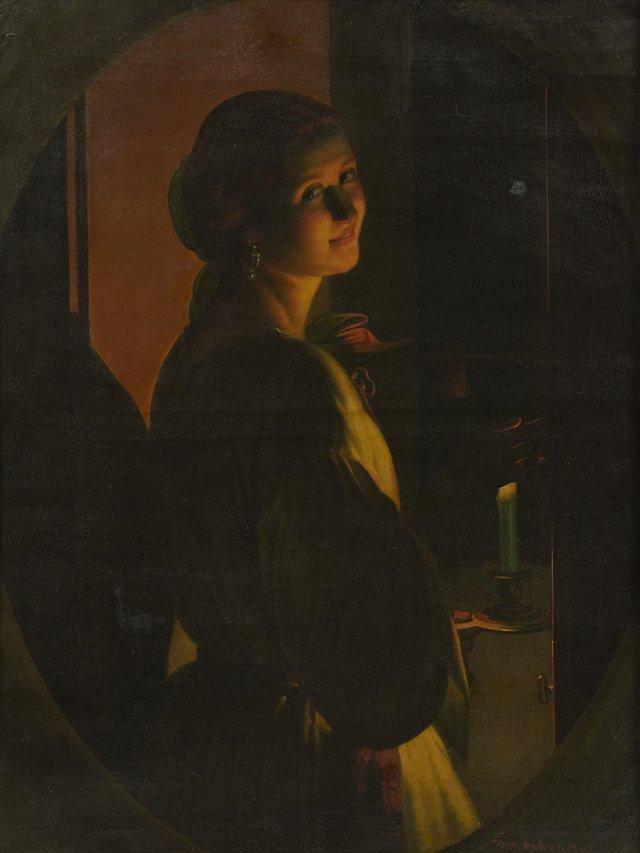 """Petrus Van Schendel (1806-1870, Belgium), """"Young Woman"""
