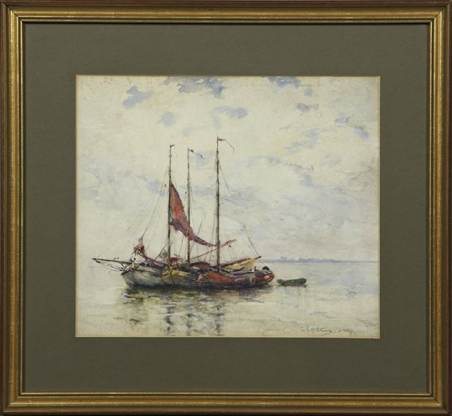 "Emily Murray Paterson (1855-1934), ""Fishing Boats in"