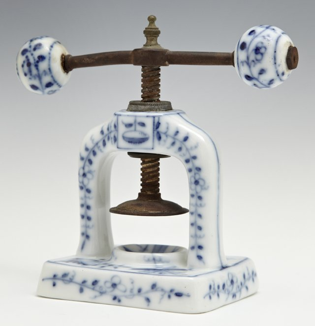 Unusual Meissen Nut Cracker, probably 19th c., with