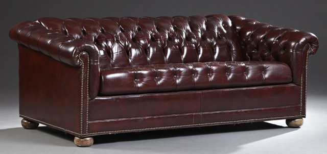 Incroyable Placeholder English Style Tufted Leather Chesterfield Sleeper Sofa,