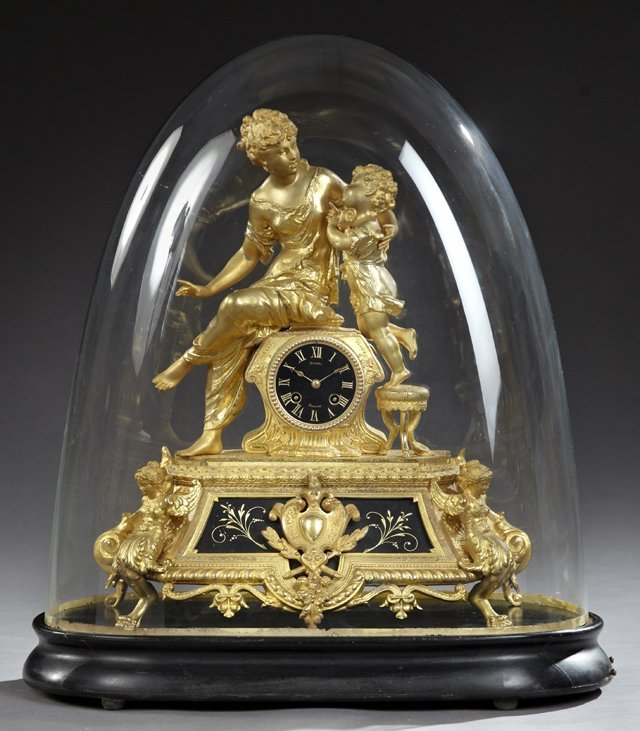 Exceptional French Gilt Spelter and Marble Figural