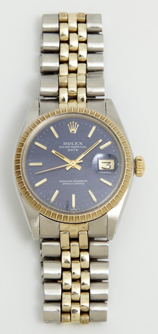 14K Yellow Gold and Stainless Rolex Oyster Perpetual