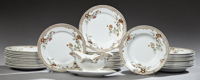 Thirty-Nine Piece Set of French Terre de Fer