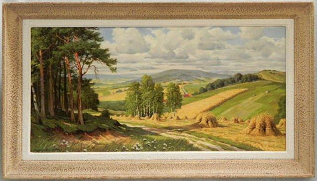 """Erna Kruger (1883-1973), """"Summer Valley Landscape with"""