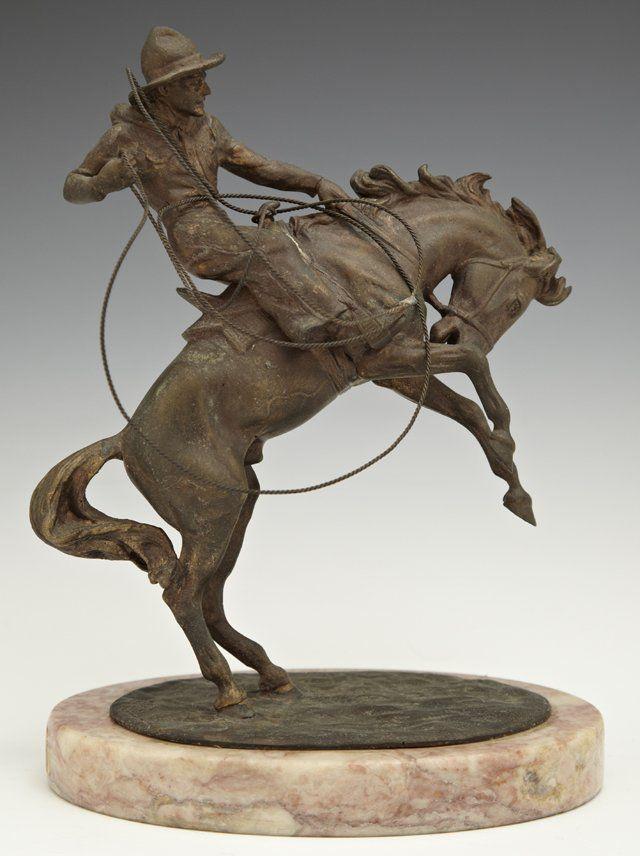 """After Carl Kauba (1865-1922), """"The Bronco Buster,"""" 20th"""