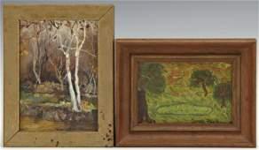 "Robert M. Rucker (1932-2000), ""Autumn Woods,"" and Janet"