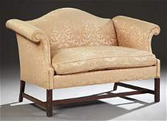 American Chippendale Style Carved Mahogany Loveseat