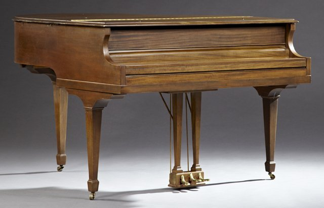 Bradbury Carved Mahogany Baby Grand Piano, New York, c. - 2