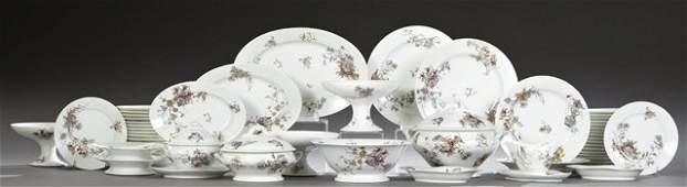 One Hundred Nine Piece Set of Limoges Porcelain