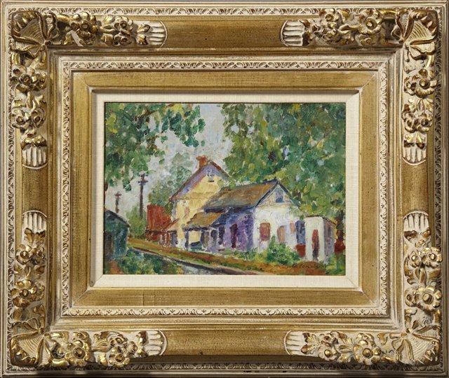 "Charles Camoin (1879-1965), ""Village Street Scene,"""