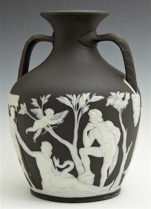 Wedgwood Black Jasper Portland Vase Mid 19th Century
