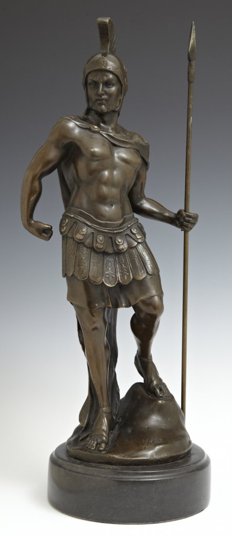 "Chinese School, ""Classical Roman Warrior,"" 20th c.,"