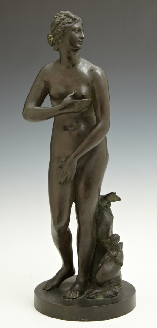 Patinated Bronze Classical Statue, late 19th c., of a