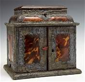 Rare English Tortoise Shell Jewelry Box, early 18th c.,
